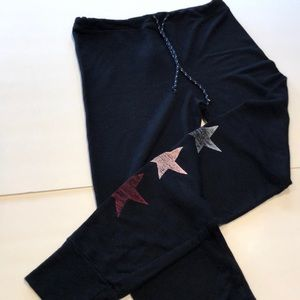 Sundry Sz 3-Medium sweatpants with stars.  Black